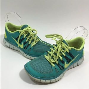 Nike Free Run 5.0 Green Running Athletic Sneakers